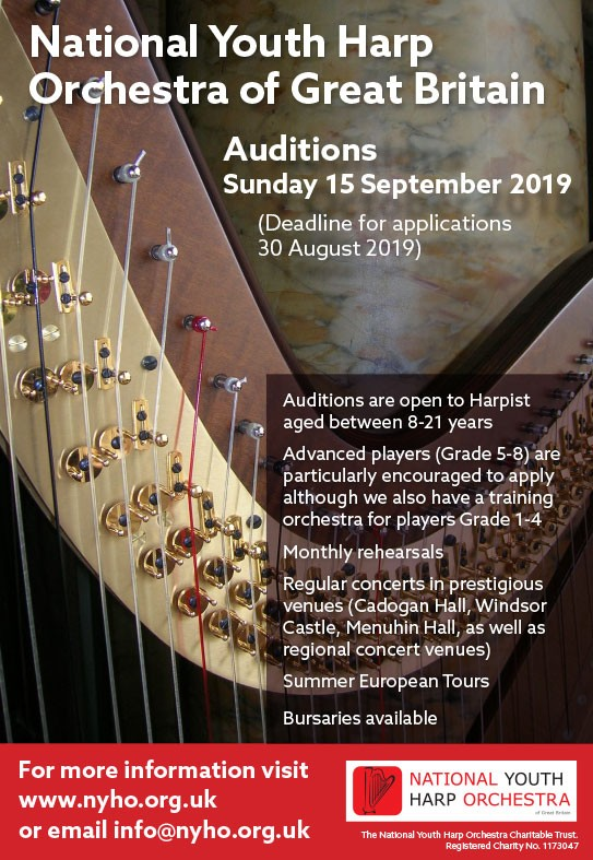 Open Auditions – National Youth Harp Orchestra